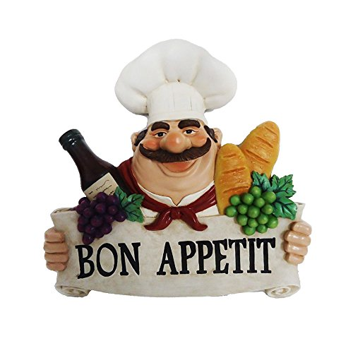 Bon Appetit Fat Chef Wall Art Hanging Bistro Cooking D64276 (Wall Chef compare prices)