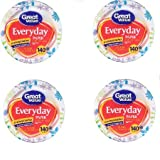 Great Value Multi-Purpose Everyday Disposable Premium Paper Plates - 140 count - 10 1/16 Inch - 4 Packs