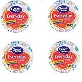 Great Value Multi-Purpose Everyday Disposable Premium Paper Plates - 140 count - 10 1/16 Inch - 4 Packs
