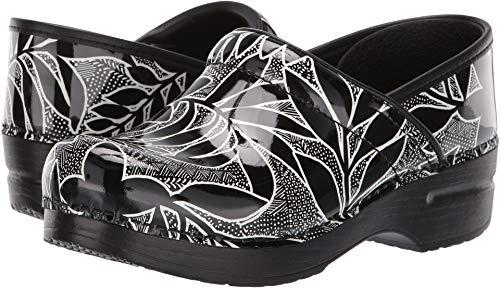Dansko Women's Professional Clog, Black Floral Patent, 39 M EU (8.5-9 US) ()