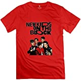 Mens New Kids On The Block Design Retro Red T Shirt By RRG2G