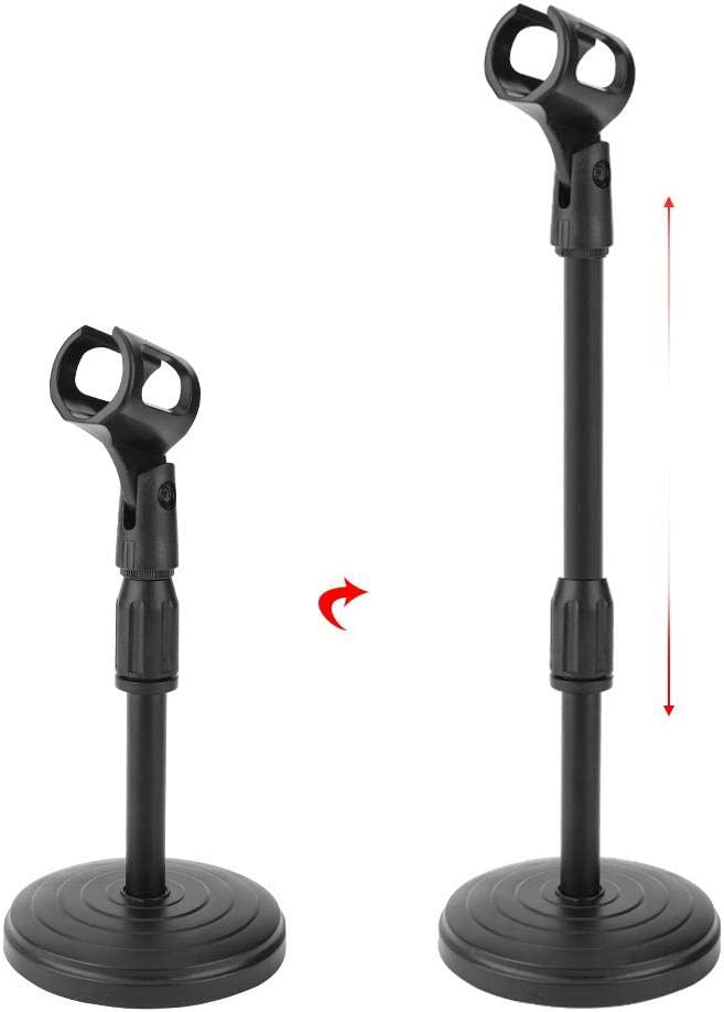 Mic Stand Adjustable Microphone Stand Mic Stand Kit with Shock Mount Enhanced Table Mounting Clamp