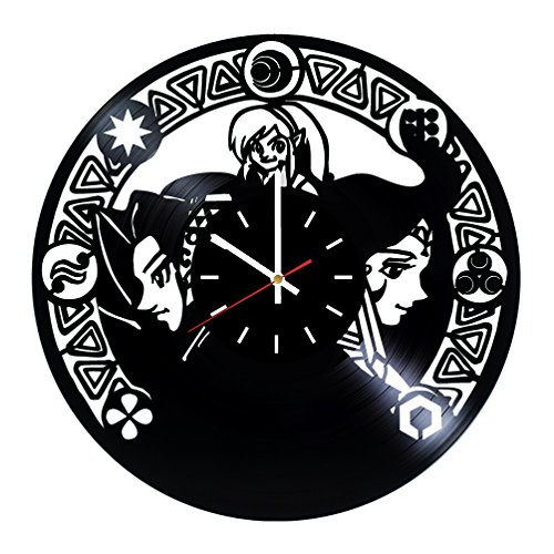 Zelda Vinyl Record Wall Clock -Nursery room wall decor - Gift ideas for teens, friends, boys - Unique Art Design by choma