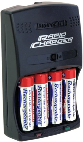 DigiPower DPS-3000+ 3-Hour AA/AAA Rechargeable Battery Kit with 4 AA 2700 mAh Batteries and Car - 2700mah 4 Batteries