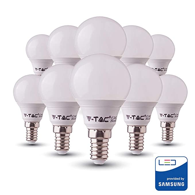 10 x 4W LED Candle Bulb Lightbulb Lamps Warm White 3000K SES ES BC 40W Equiv