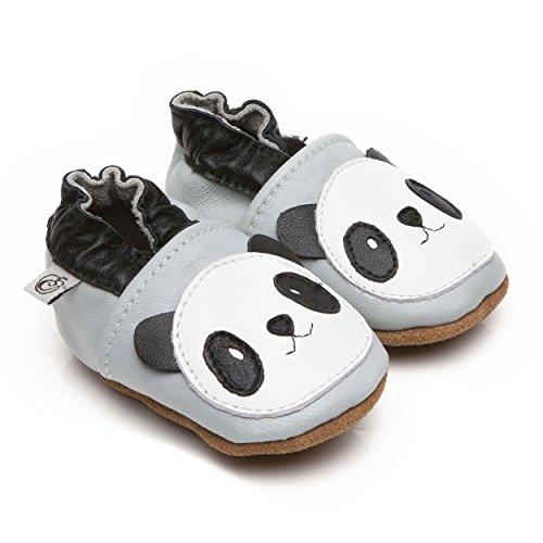 Chaussons Bébé en cuir doux Panda 6/12 mois