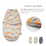 Baby-Sleeping-Sack-with-Cute-Pillow-Plush-Dot-Velboa-Wearable-Blanket-Super-Soft-Cotton-in-Wrap-Swaddle-Blanket-for-Toddler-Unisex-Thickened-Baby-Sleep-Bag-Fox-ScribbleSmall-Grey