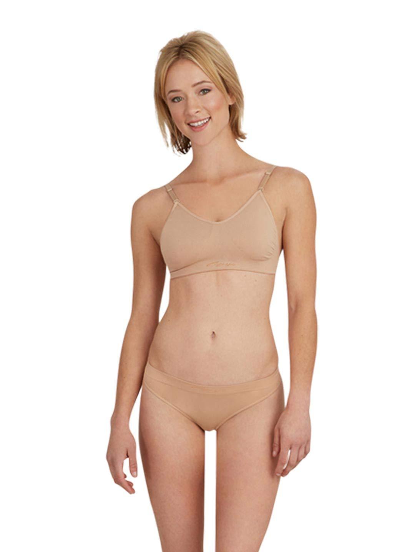 All Sizes Capezio Women/'s Seamlss Bra Clr Strp 3683
