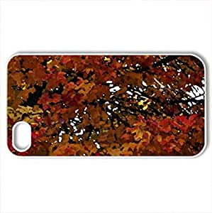 Beautiful Fall - Case Cover for iPhone 4 and 4s (Forces of Nature Series, Watercolor style, White)