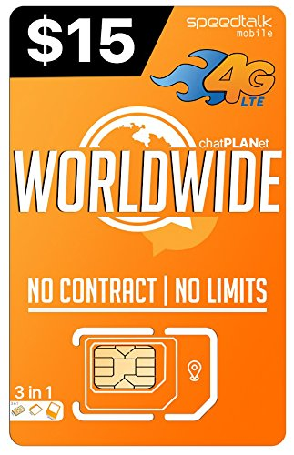 PREPAiD WORLDWIDE   3 in 1 SIM CARD   GSM SiM   Travel/International Plan - 30 Days service -