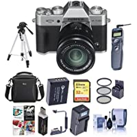 Fujifilm X-T20 24.3MP Mirrorless Digital Camera w/XC 16-50mm f/3.5-5.6 OIS II Lens, Silver - BundleW/ Camera Case, 32GB SDHC Card, Spare Battery, Tripod, Remote Shutter Release, Software Package, More