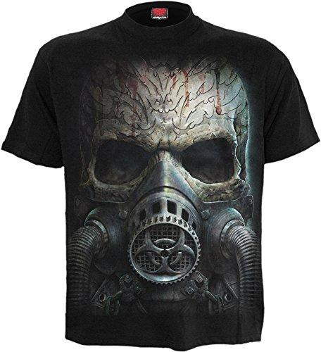 Spiral - Mens - BIO-Skull - T-Shirt Black