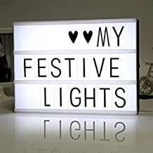KALRI LED Cinematic Lightbox Free Combination Cinematic Light Box With Letters Decorative Signs A4 Size