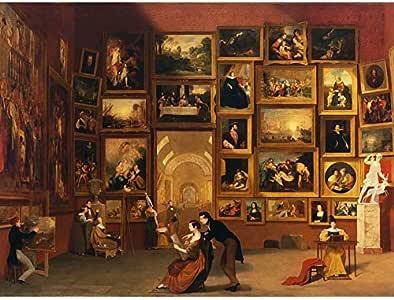 Amazon.com: Morse Gallery Louvre Paris Painting Unframed
