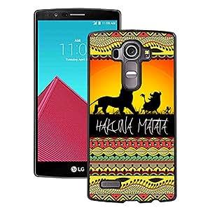 LG G4 Case,100% brand new Hakuna Matata on Sunset Lion King Black Case For LG G4
