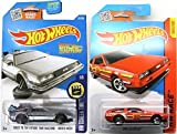 Back to the Future Batman 2016 Car Set Time Machine Hot Wheels Mainline Series Hover Mode Delorean Screen Time & DMC Delorean Race Track Stars #184