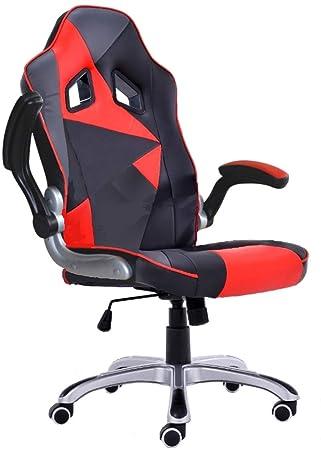 MONTECARLO Silla de oficina giratoria sillón escritorio estudio para jugar: Amazon.es: Hogar