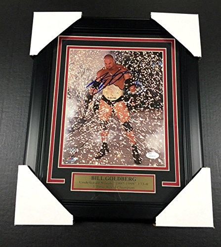 WWE WWF WCW BILL GOLDBERG AUTOGRAPHED FRAMED 8X10 PHOTO SIGNED AUTOGRAPH AUTO JSA from Baseball Card Outlet & Sports Memorabilia