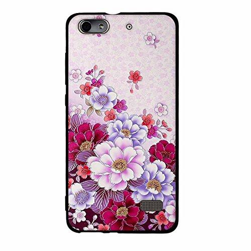 Funda Huawei Honor 4C G Play Mini, FUBAODA [Flor rosa] caja del teléfono elegancia contemporánea que la manera 3D de diseño creativo de cuerpo completo protector Diseño Mate TPU cubierta del caucho de pic: 04
