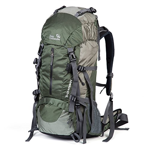 SUNVP 50L Lightweight Hiking Backpack Outdoor Sport Nylon Water-Resistant Internal Frame Trekking Bag Rain Cover Climbing Camping Travel Mountaineering