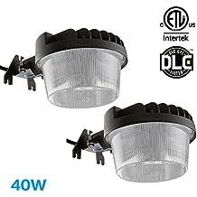 TORCHSTAR 2 PACK Dusk-to-dawn LED Outdoor Barn Light, 40W (300W Equiv.), 4800lm Ultra-bright Area Light, 3000K Warm White, DLC ETL-listed Yard Floodlight, 5-year Warranty