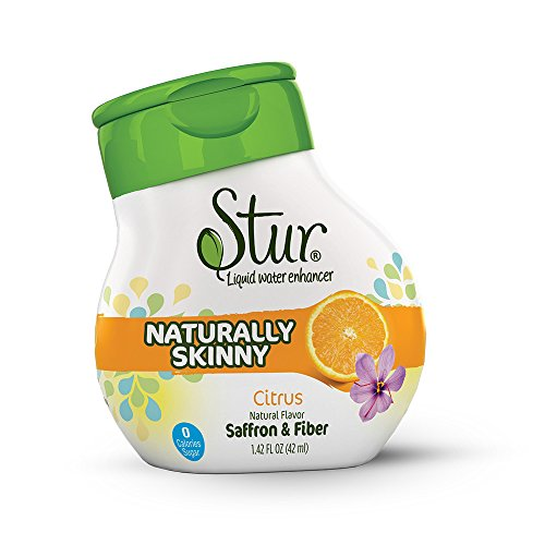 (Stur - Skinny (5pck) Citrus – Natural liquid drink mix for HUNGER CONTROL, with Fiber and Saffron – makes 100 servings, water enhancer, Non-GMO, sugar-free, calorie-free.)