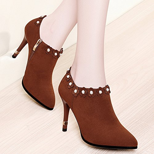 37 De Versátil Moda La Chica Zapatos Coreana Elegante Tide Y Nueva Altos Color Femeninos De Calzados La Los Versión Deep De AJUNR Tacones De De Caramelo Y 36 La Punta Mujer Caída wzAXqZ