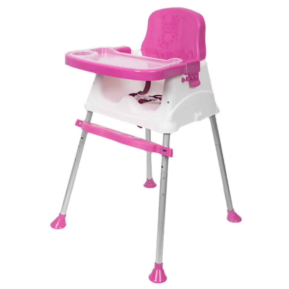 LXLA ポータブルハイチェア 赤ちゃんと幼児用 ハーネス 取り外し可能なトレイ 調節可能な脚付き ピンク 46480  ピンク B07NYZCW7X