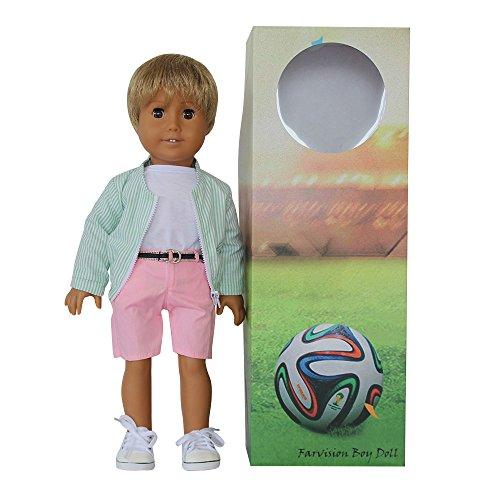 Limit Edition American Girl Boy Doll 18 inch, Include Green