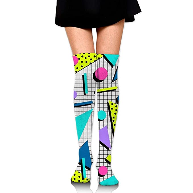 1d72f5f67ee Women s Vintage 80S 90S Fashion Style Long Stockings 3D Pattern Casual Knee  High Socks (60cm