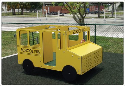 Spring Riders Playground Equipment (School Bus Multi-Spring Rider)