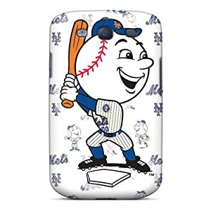 Scratch Protection Cell-phone Hard Cover For Samsung Galaxy S3 With Support Your Personal Customized Realistic New York Mets Image RichardBingley