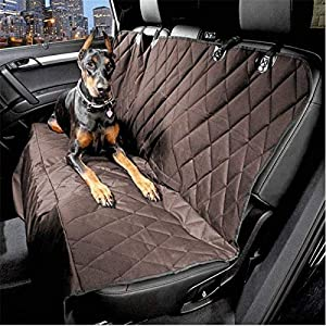 Sri Pet Seat Cover Car Seat Cover for Pets, Brown