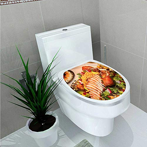 Leighhome Decal Wall Art Decor A Delicious Salad Buffet Bathroom Creative Toilet Cover Stickers W11 x L13 - Printable Buffet