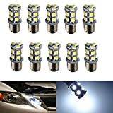 XT AUTO 10x Super Bright White 1156 13-SMD 5050 LED Light bulbs 1129 1141 1159 1259 1459 1619 1651 1680 for Car Backup Parking Tail Light