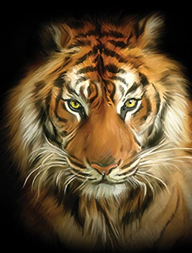 JP London PMUR0010 Peel and Stick Removable Wall Decal Sticker Mural, Tiger Face, 4 x 3-Feet - London Tigers