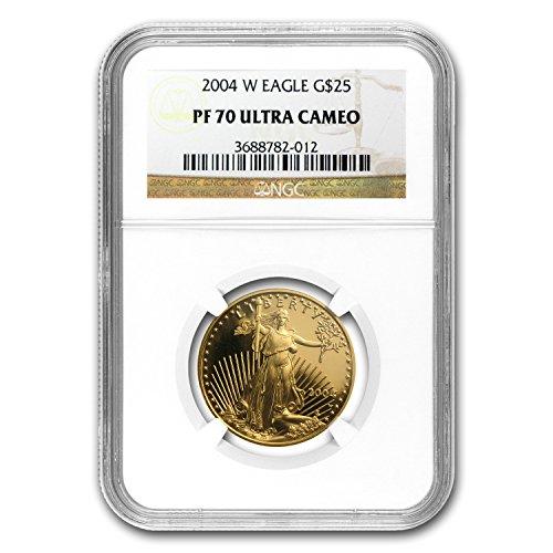 2004 W 1/2 oz Proof Gold American Eagle PF-70 NGC Gold PF-70 (Ngc Pf70 Proof)