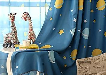 Lot de 2rideaux opaques avec motifs pour chambre d'enfant, Cartoon Car, 160*140 cm MYRU