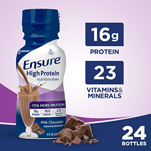 Ensure High Protein Nutritional Shake with 16g of High-Quality Protein, Ready-to-Drink Meal Replacement Shakes, Low Fat, Milk Chocolate, 8 fl oz, 24 Count (Best Way To Increase Milk Supply Fast)