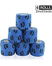 AUPCON Self Adherent Cohesive Bandage Elastic Vet Wrap First Aid Supplies Stretch Tape Non-Woven Breathable Elastic Bandage Tape for Relieve Swelling and Pain & Support Fingers, Toes
