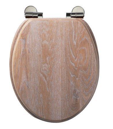 Traditional Limed Oak Soft Close Toilet Seat Amazoncouk Kitchen