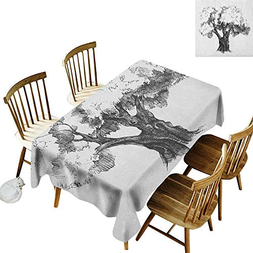 Grid rectangle tablecloth W54