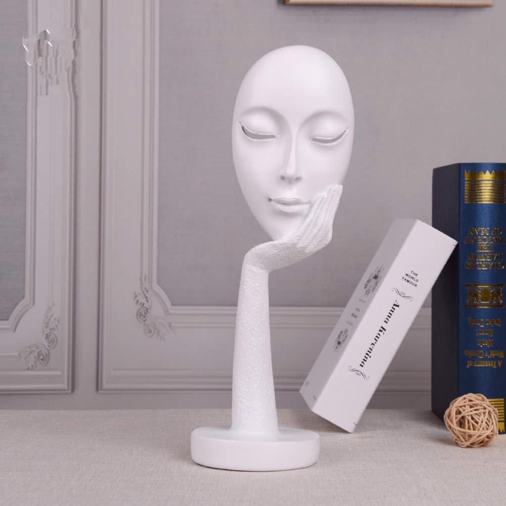 PP/&DD Maschera Viso Figurine,Creativo Astratto Mestieri Statue,Sculture.per Ufficio Soggiorno Art Regalo Decorazioni casa 7x3x3inch J 17x8x8cm
