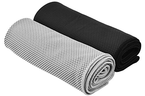 Cooling Towel for Sports, Workout, Fitness, Gym, Yoga, Pilates, Travel, Camping & More,2 Pack