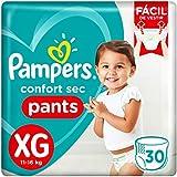 Fralda Pampers Confort Sec Pants 30 Unidades, XG