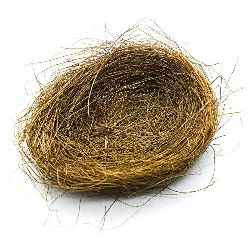 HUELE Artificial Nest Easter Mini Colored Thread Bird Nests for Candies Eggs , 3Pcs - Coffee