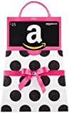 Amazon.com $25 Gift Card in a Polka Dot Reveal (Classic Black Card Design)