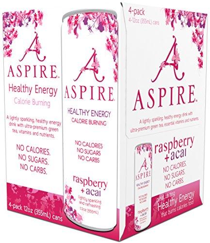Aspire  Healthy Energy  Calorie Burning  Zero Calorie  Zero Sugar Drink Raspberry   Acai 4 Pack