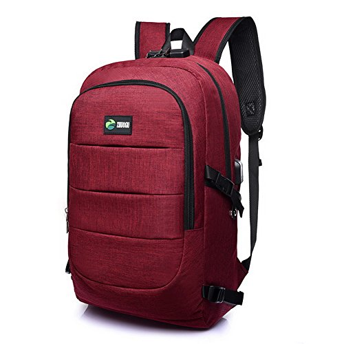 Red Voguezone009 Shoulder Daypack Backpacks School Ccaybp181318 Women Bags Traveling Nylon 1qArz1