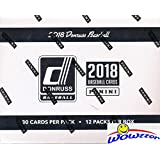 2018 Donruss Baseball MASSIVE Factory Sealed JUMBO FAT Pack Box with 360 Cards & TWO(2) AUTOGRAPH or MEMORABILIA Cards & 12 EXCLUSIVE Retro 1984 HOLO BLUE PARALLELS! Look for Shohei Ohtani! WOWZZER!